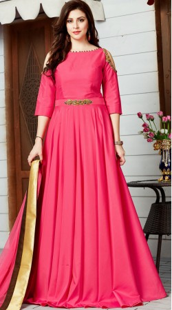 Pink Cut Out Shoulder Gown Style Suit 2WV800417