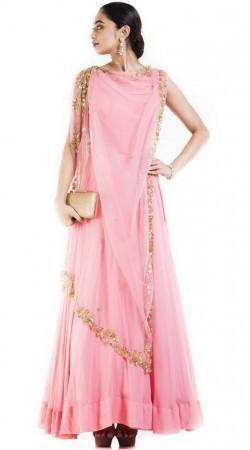 Pink Designer Anarkali Suit In Plus Size SUUDS52030