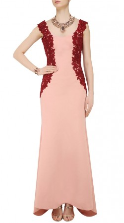 Pink Floor Length Kameez With Jacket Style Embroidery SUUDS43520
