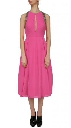 Pink Georgette Frock Style Kurti SUUDK19723