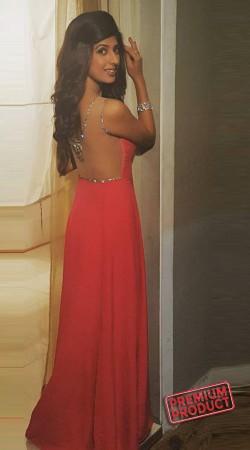 Pink Satin Silk Designer Indowestern Gown BP0135