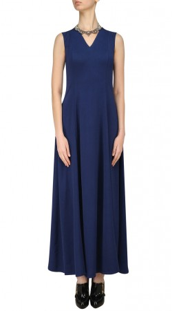 Plain Blue Silk Ankle Length Kameez SUUDK20123