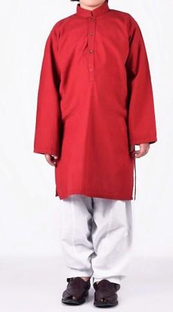 Plain Red Boy Kid Kurta Pajama BP2538