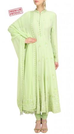 Plus Size Light Pastel Green Anarkali Suit SUMS31821