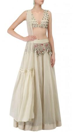 Plus Size Off White Designer Lehenga Choli SUUDL31331