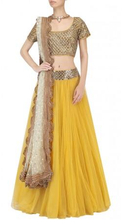 Plus Size Yellow Designer Lehenga Choli SUUDL32031