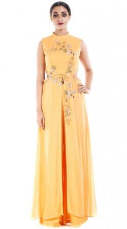 Plus Size Yellow Designer Salwar Kameez SUUDS52730