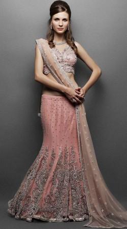 Pretty Blush Pink Designer Heavy Work Lehenga Choli SM1004
