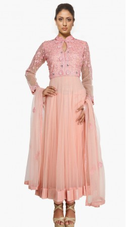 Pretty Light Pink Net Exclusive Salwar Kameez With Dupatta SU20811