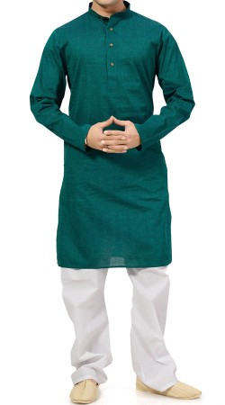 Rama Green Cotton Men Kurta Pajama BP2138