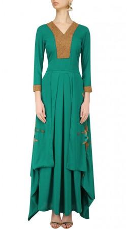 Rama Green Georgette Plus Size Salwar Kameez SUUDS47129
