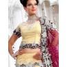 RB326002 Dark Cream Bridal Net Lehenga Choli