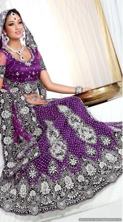 RB326005 Purple Bridal Net Lehenga Choli