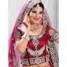 RB326010 Dark Red Bridal Net Lehenga Choli