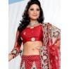 RB326020 Red Bridal Net Lehenga Choli