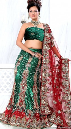 RB326024 Teal Green Bridal Net Lehenga Choli