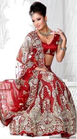 RB326026 Red Bridal Net Lehenga Choli