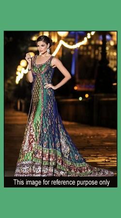 Remarkable Design Heavy Work Green Designer Floor Length Anarkali SM1101