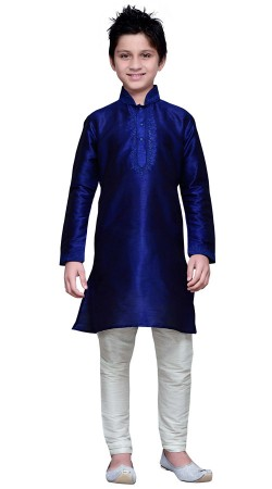 Royal Blue Embroidery Work Boy Kurta Pajama GR15512
