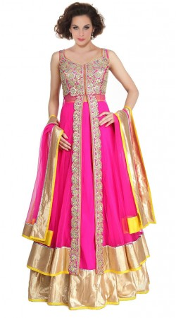 Ruby Net Floor Length Anarkali Suit SU5301