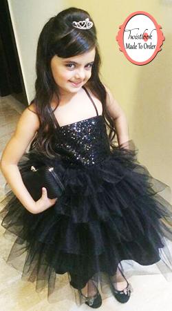 Ruhanika Dhawan Looking Cute In Black Net Kids Dress BP0513