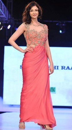 Saumya Tandon Pink Satin Silk Party Wear Gown BP1130