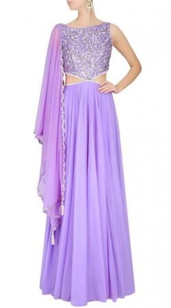 Sequins Work Lavender Designer Salwar Kameez SUUDS42420