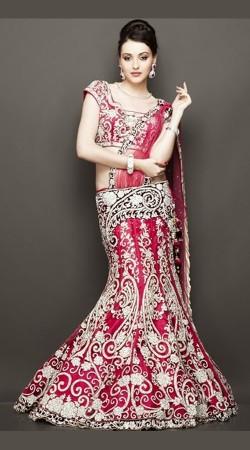Shandaar Pink Heavy Work Designer Bridal Lehenga