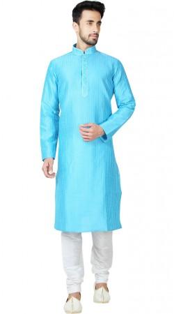 Sky Blue Art Silk Thread Work Kurta Pajama GR150414