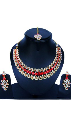 Stone Work Designer Jewellery For Party NNP84307