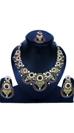 Stone Work Party Wear Necklace Set NNP86308