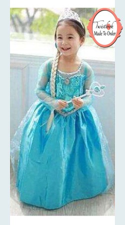 Stunning Sky Blue Net Princess Dress For You Kid BP0413
