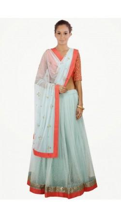 Trendy Aqua Net And Shantoon Navratri Chaniya Choli SUUDL7314