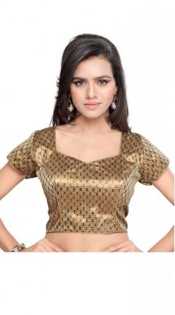 Trendy Dori Style Brown Art Silk Jacquard Designer Blouse BPMS1512