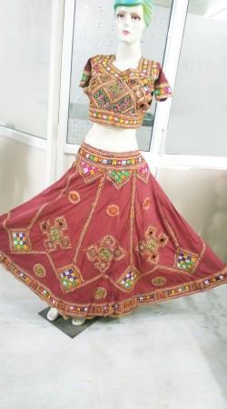 Trendy Maroon Indian Traditional Navratri Lehenga Choli 2BR670558