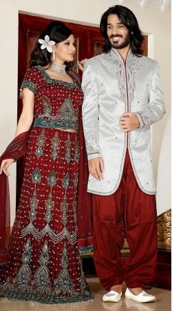Trendy White Embroidered Brocade Indowestern Sherwani 3FD3871532