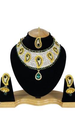 Ultimate Design Necklace Set With Maang Tika NNP80305