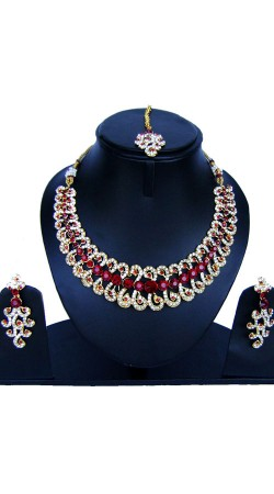 Ultimate Design Necklace Set With Maang Tika NNP84507