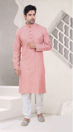 Well Proportioned Pink Cotton Festival Kurta Pajama SI0942