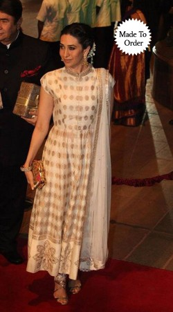 White Georgette Karisma Kapoor Bollywood Star Replica Salwar Kameez SMDS0WWW