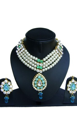 White Pearl Designer Artificial Jewellery With Stones NNP74902