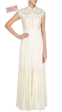 White Plus Size Salwar Kameez With Matching Dupatta SUMS32921