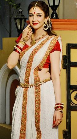 White Satin Silk Bengali Look Anita Style Saree BP1630