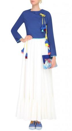 White Silk Plus Size Salwar Kameez SUUDL25525