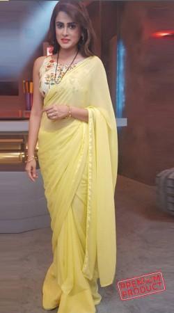 Yellow Chiffon Bridesmaid Saree With Blouse BP0335
