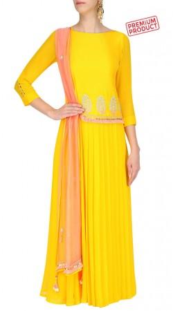 Yellow Floral Work Designer Salwar Kameez SUMS28321