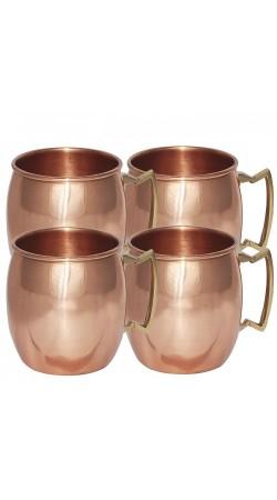 Solid Copper Moscow Mule Siggió Mug Set of 4 Mugs