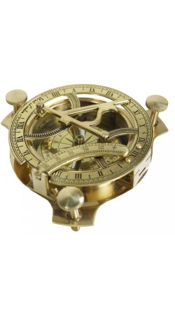 4 inch Sundial Compass Solid Brass Sun Dial