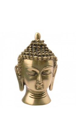 Lord Buddha Head Statue Brass Sculpture Religious Figurines