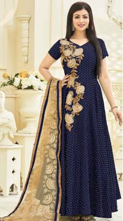 Ayesha Takia Blue Embroidery Work Salwar Kameez